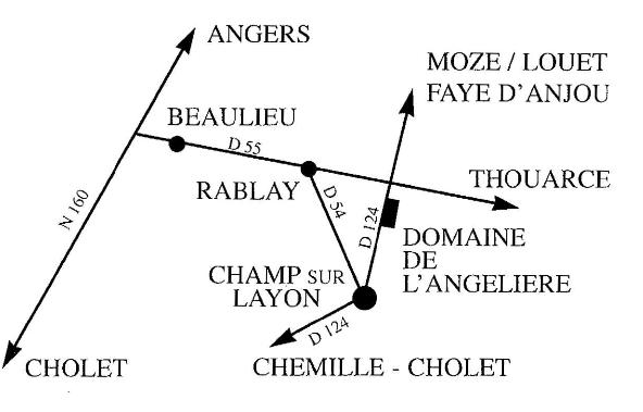 Plan Gite Angelière - Pays de la Loire - Anjou
